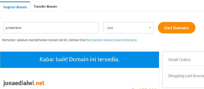 cara membuat blog - contoh cek domain 3